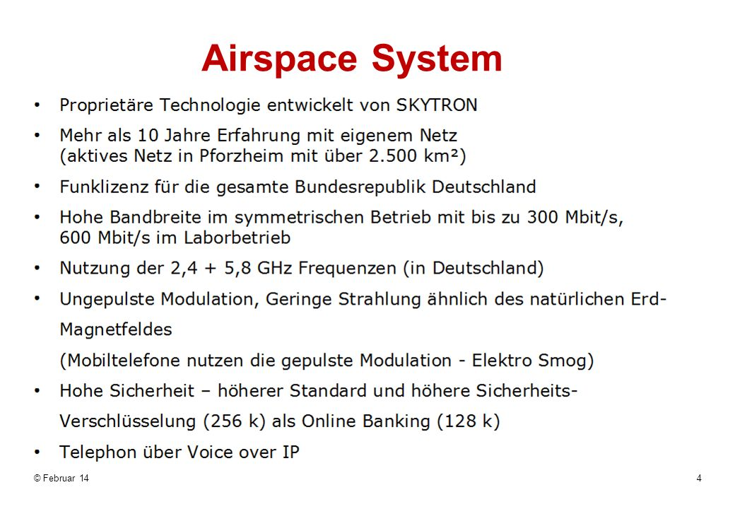 Airspace System © März 17 www.airspace-com.de 0331/74515-400