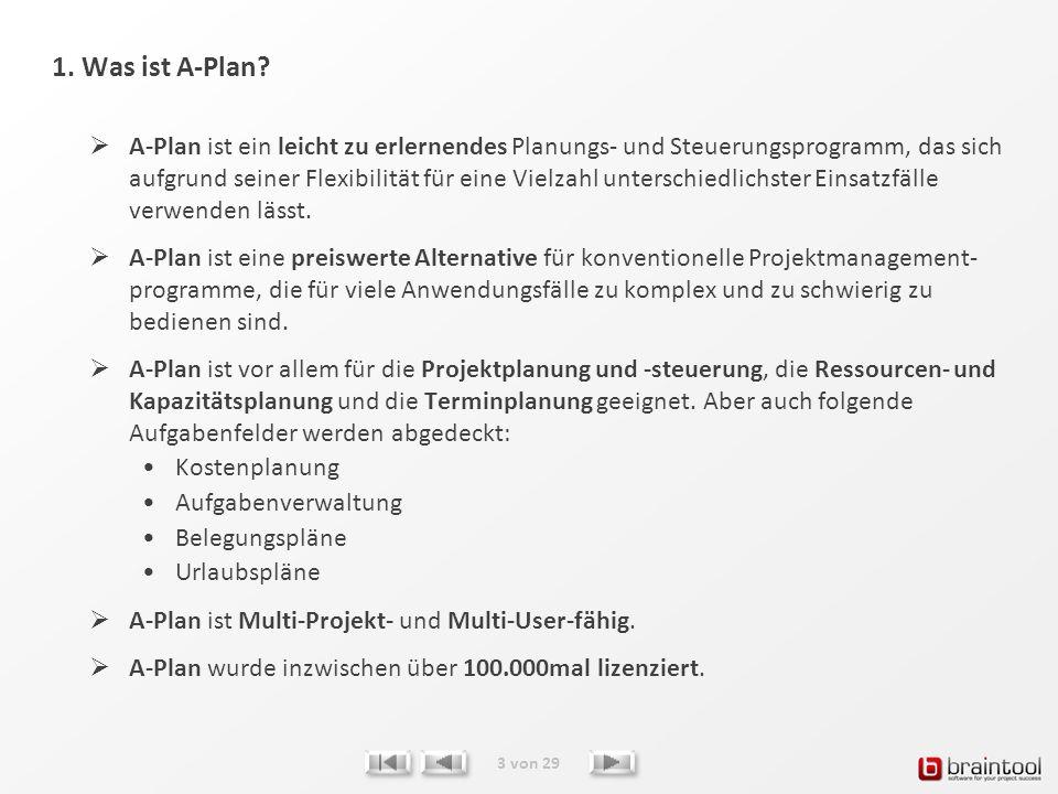 1. Was ist A-Plan