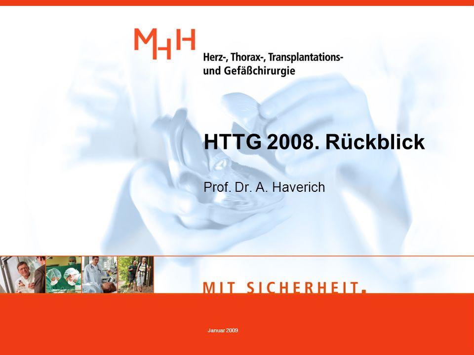 HTTG 2008. Rückblick Prof. Dr. A. Haverich