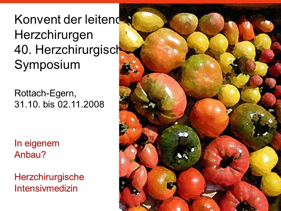 Herzchirurgen 40. Herzchirurgisches Symposium