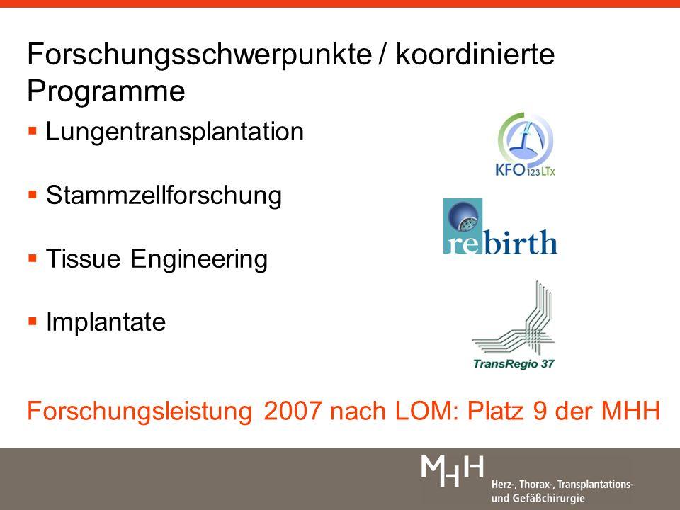 Forschungsschwerpunkte / koordinierte Programme
