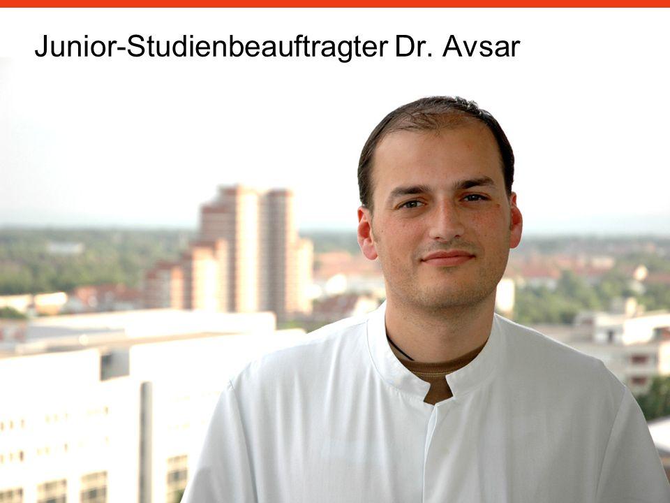 Junior-Studienbeauftragter Dr. Avsar