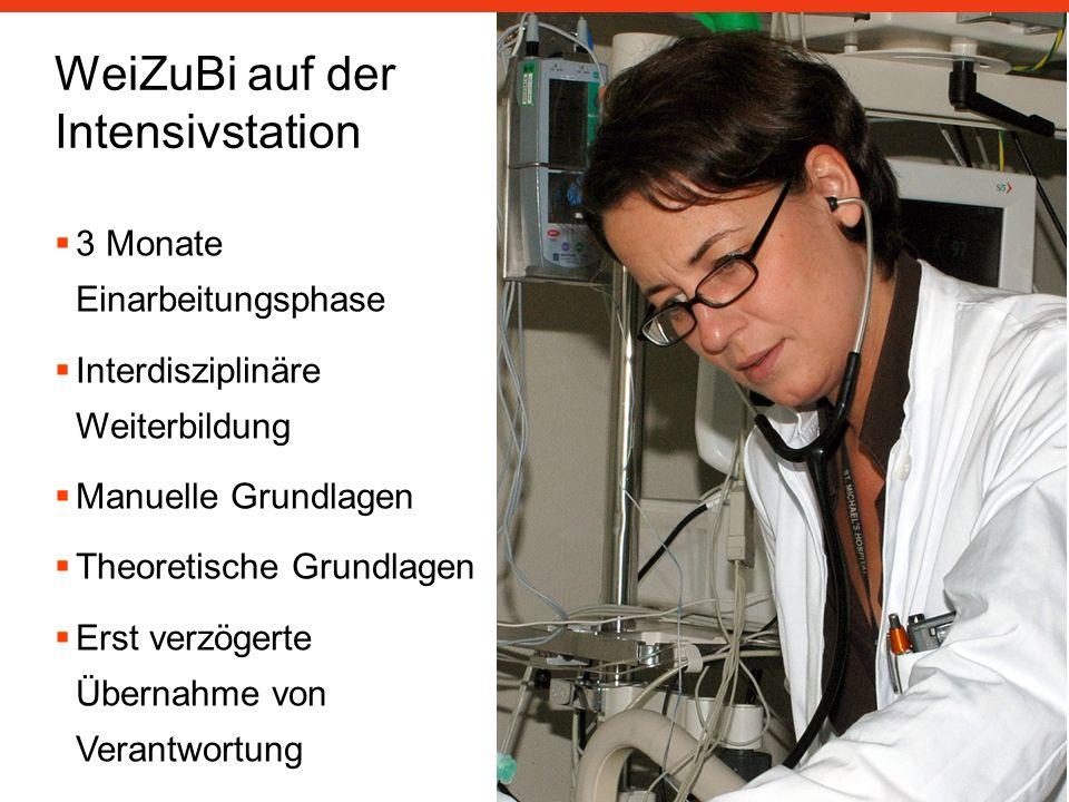 WeiZuBi auf der Intensivstation 3 Monate Einarbeitungsphase