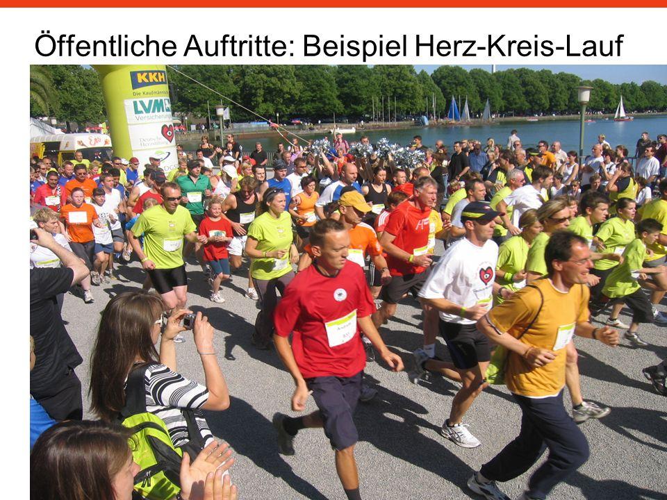 Öffentliche Auftritte: Beispiel Herz-Kreis-Lauf KKH 7/2008
