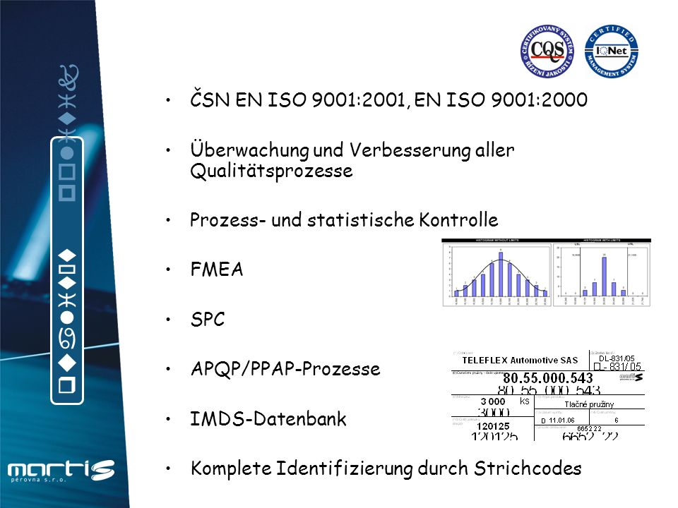 qualität politik ČSN EN ISO 9001:2001, EN ISO 9001:2000