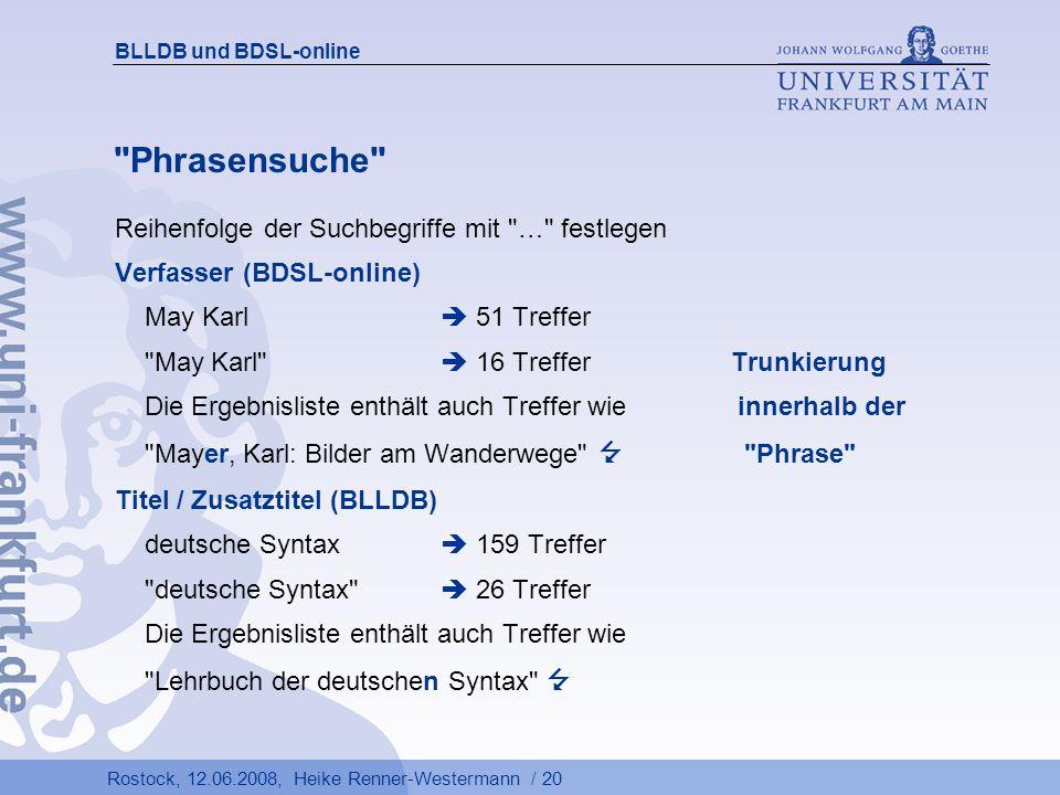 Phrasensuche Reihenfolge der Suchbegriffe mit … festlegen