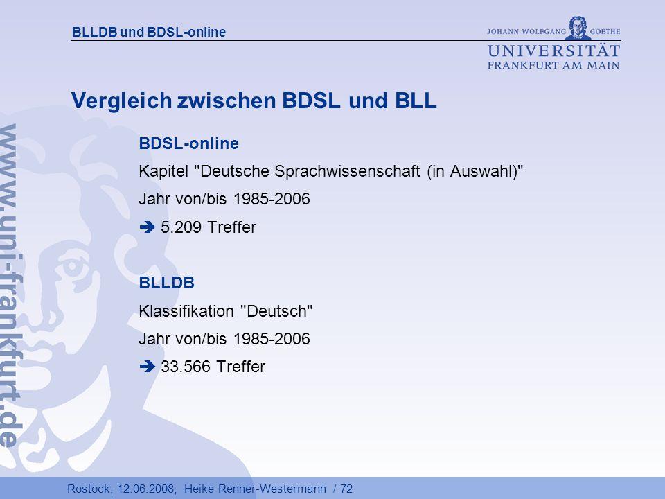 Vergleich zwischen BDSL und BLL