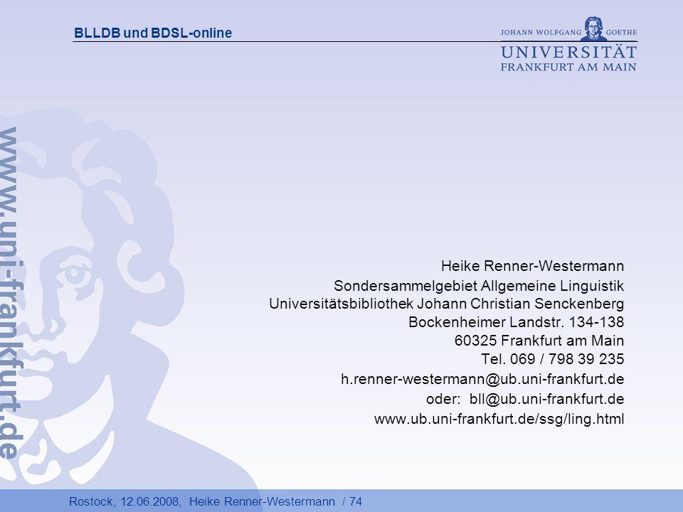 Heike Renner-Westermann Sondersammelgebiet Allgemeine Linguistik