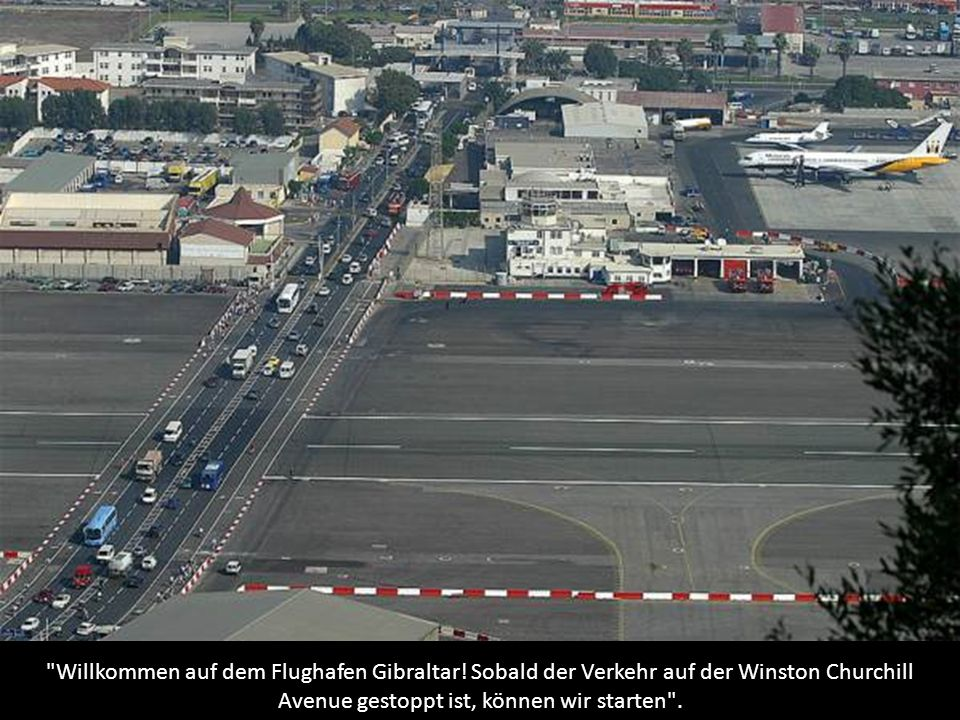 Willkommen auf dem Flughafen Gibraltar