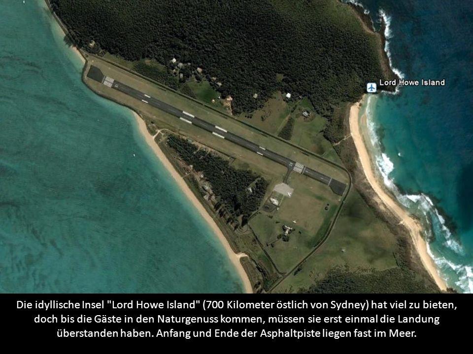 Die idyllische Insel Lord Howe Island (700 Kilometer östlich von Sydney) hat viel zu bieten, doch bis die Gäste in den Naturgenuss kommen, müssen sie erst einmal die Landung überstanden haben.