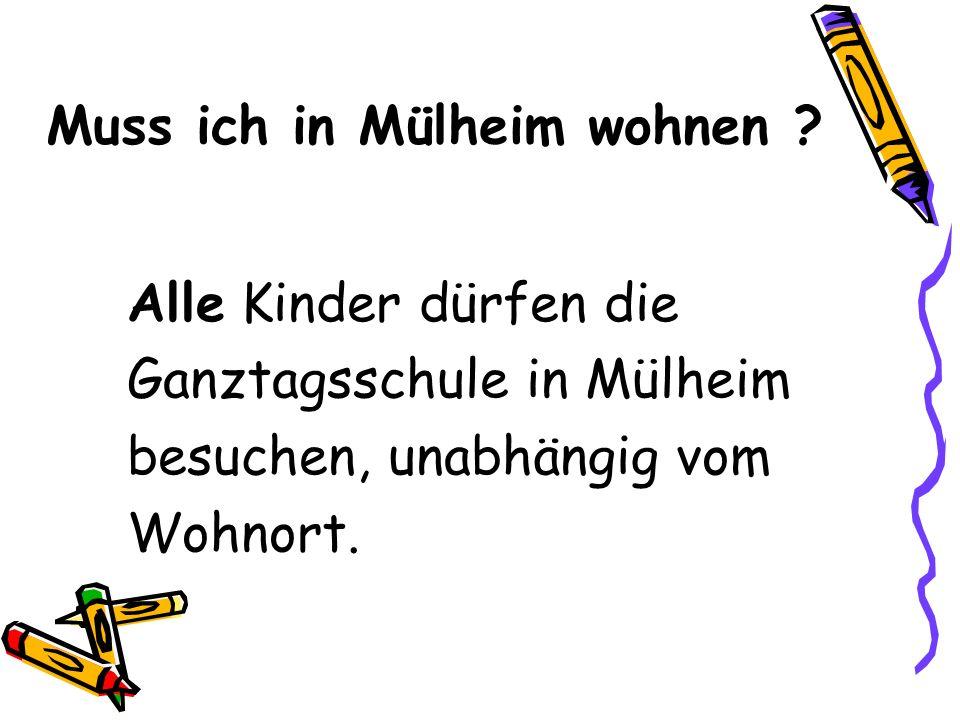Muss ich in Mülheim wohnen