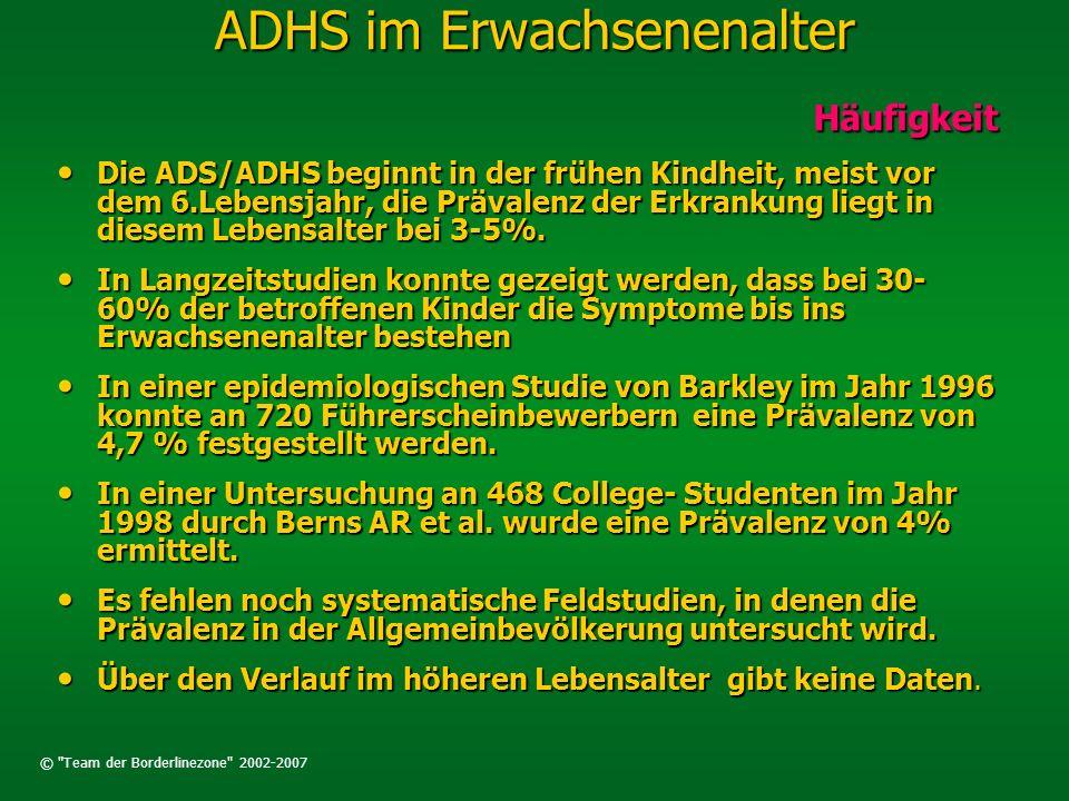 ADHS im Erwachsenenalter