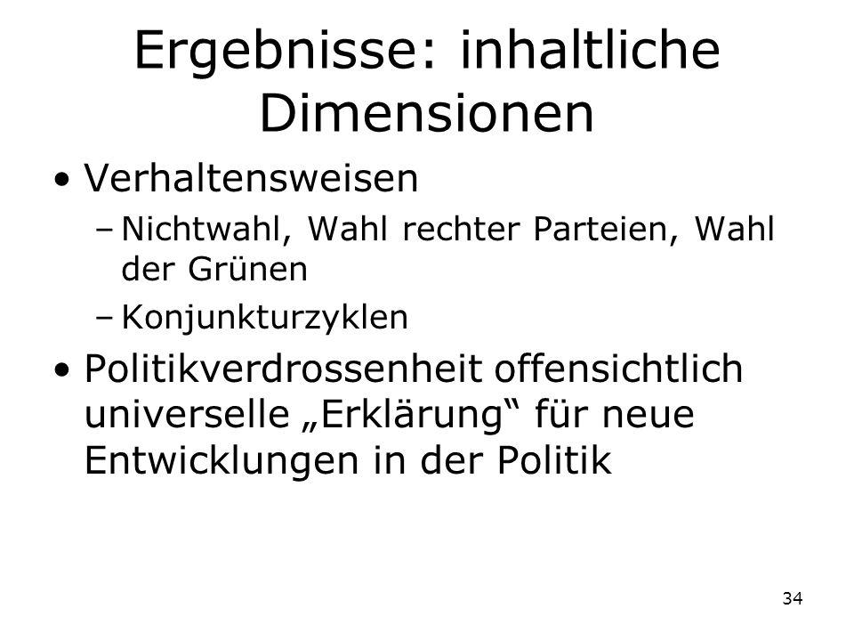 Ergebnisse: inhaltliche Dimensionen