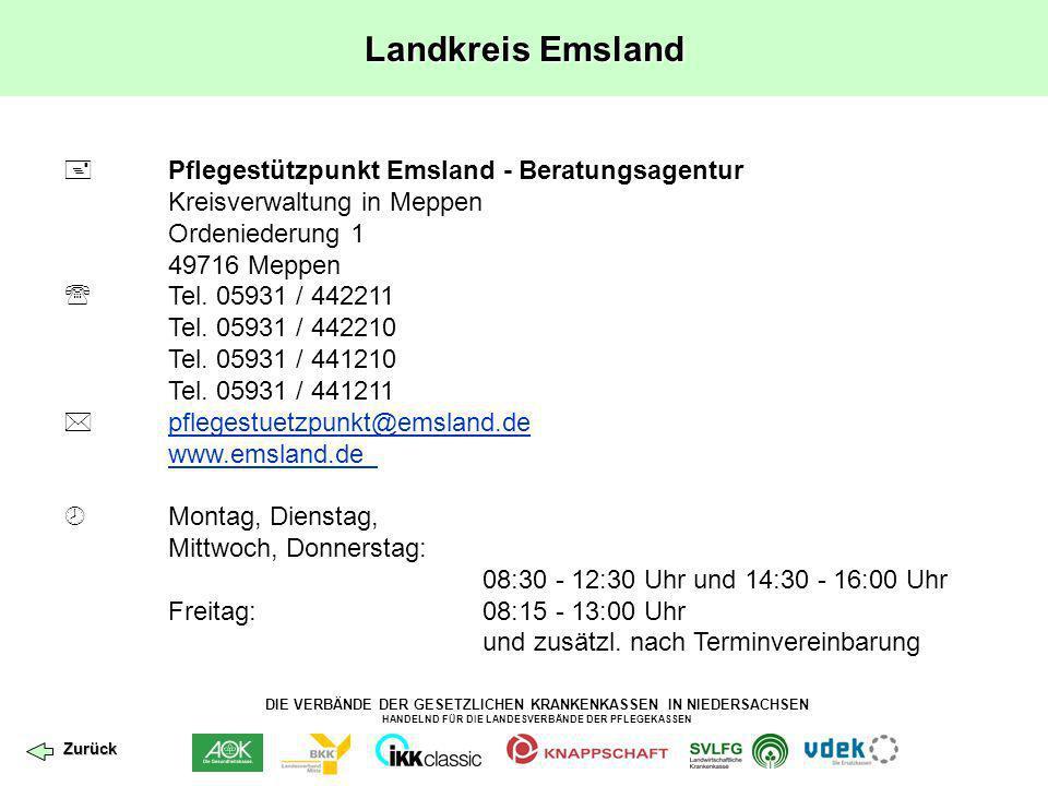 Landkreis Emsland  Pflegestützpunkt Emsland - Beratungsagentur