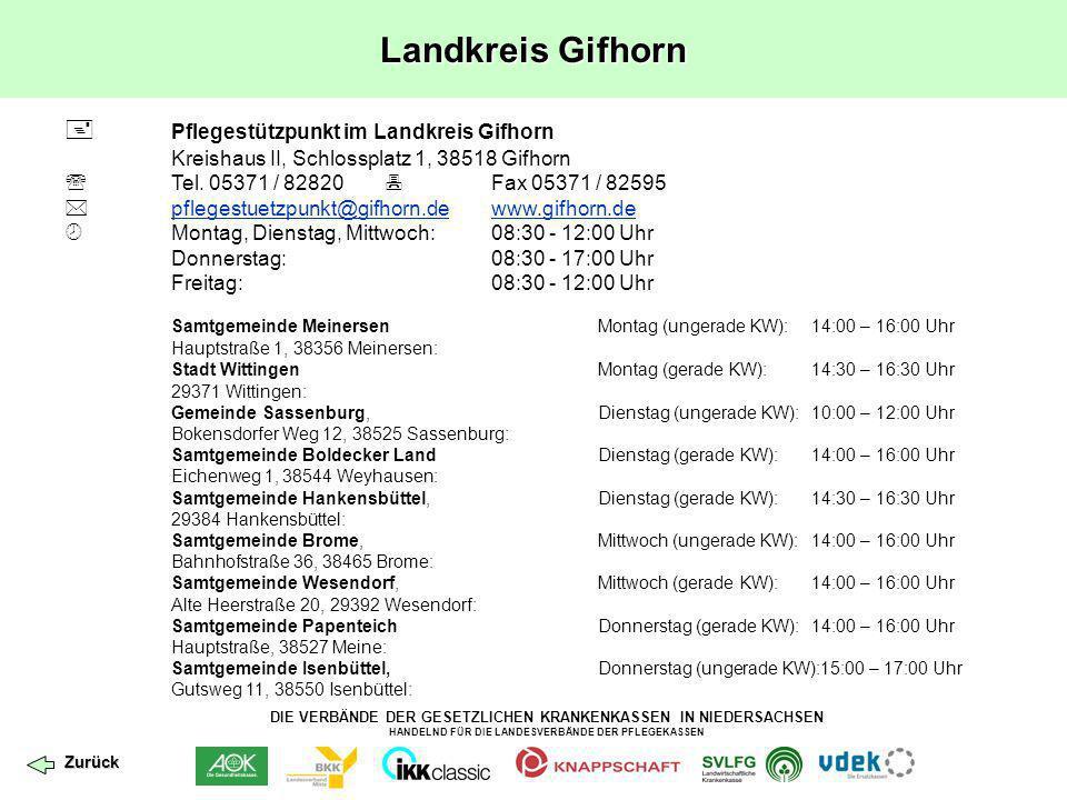 Landkreis Gifhorn  Pflegestützpunkt im Landkreis Gifhorn