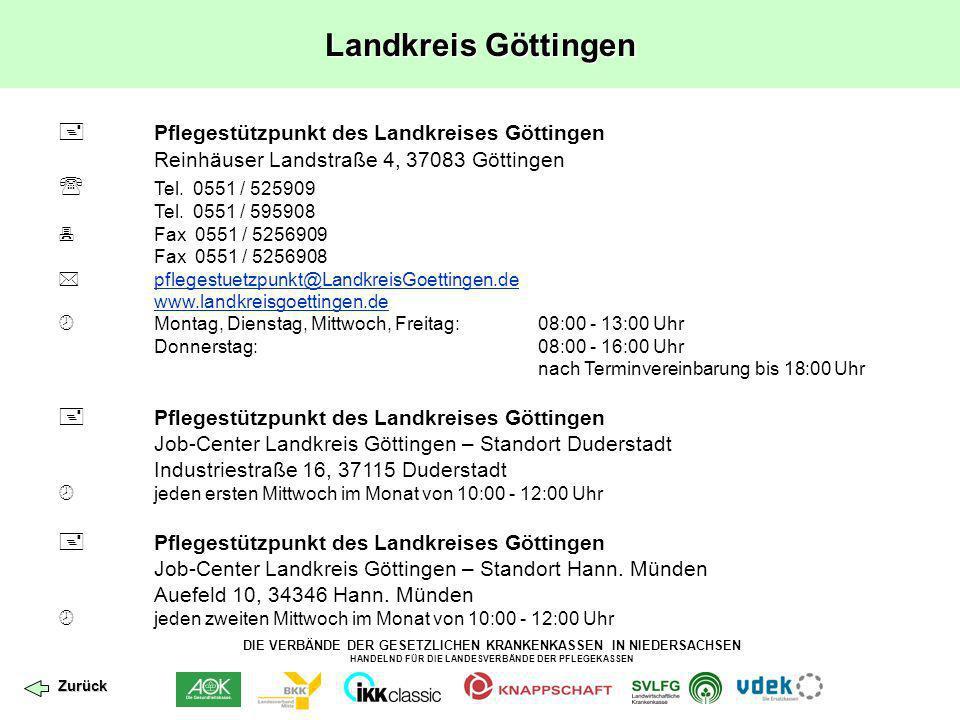 Landkreis Göttingen  Pflegestützpunkt des Landkreises Göttingen