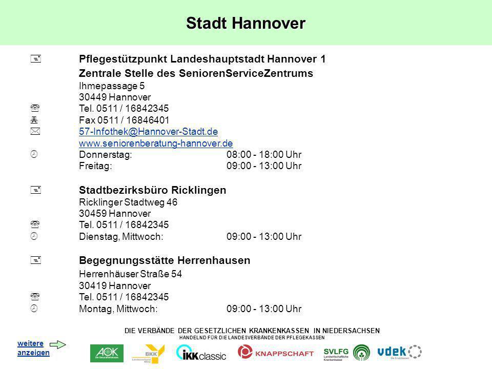 Stadt Hannover Zentrale Stelle des SeniorenServiceZentrums