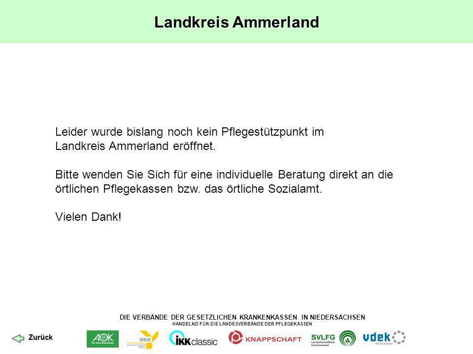 Landkreis Ammerland Leider wurde bislang noch kein Pflegestützpunkt im