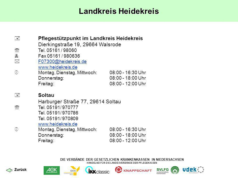 Landkreis Heidekreis  Pflegestützpunkt im Landkreis Heidekreis