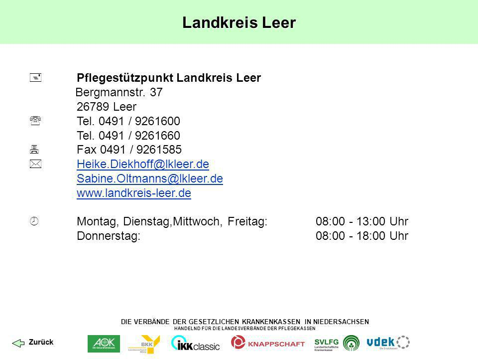 Landkreis Leer  Pflegestützpunkt Landkreis Leer Bergmannstr. 37