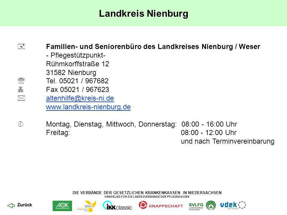Landkreis Nienburg  Familien- und Seniorenbüro des Landkreises Nienburg / Weser. - Pflegestützpunkt-