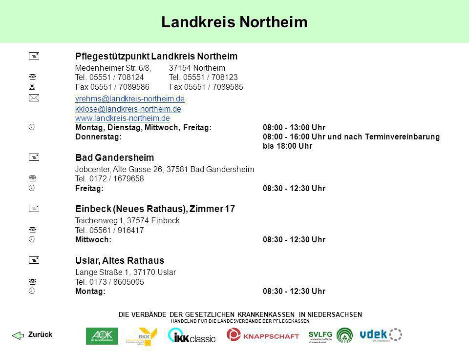 Landkreis Northeim  Pflegestützpunkt Landkreis Northeim