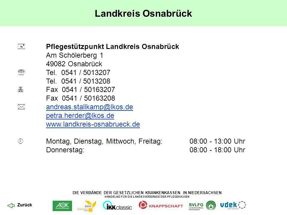 Landkreis Osnabrück  Pflegestützpunkt Landkreis Osnabrück