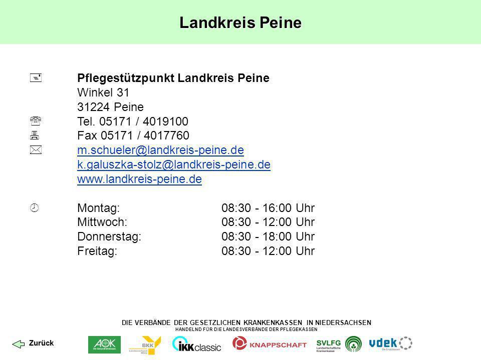Landkreis Peine  Pflegestützpunkt Landkreis Peine Winkel 31