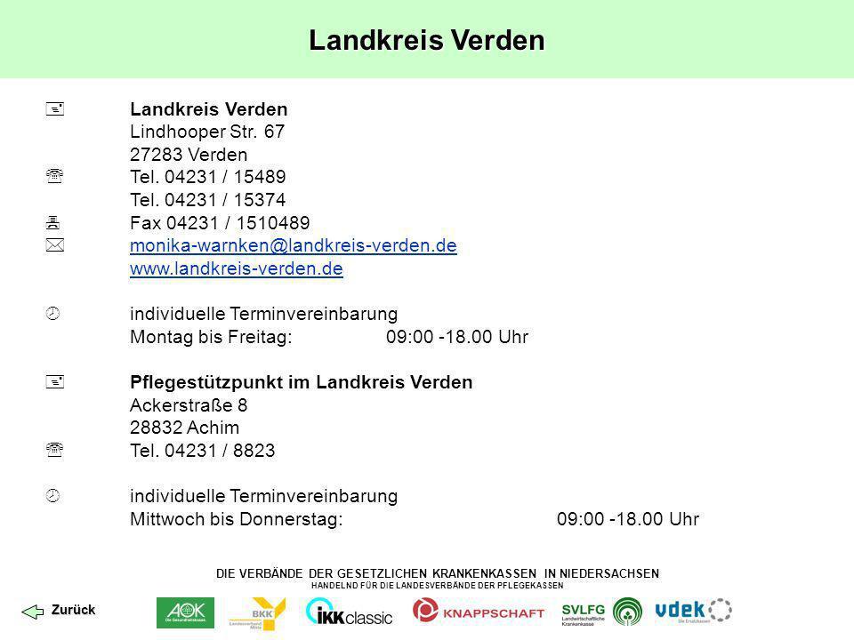 Landkreis Verden  Landkreis Verden Lindhooper Str. 67 27283 Verden