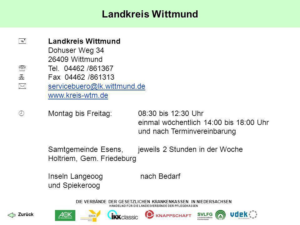 Landkreis Wittmund  Landkreis Wittmund Dohuser Weg 34 26409 Wittmund