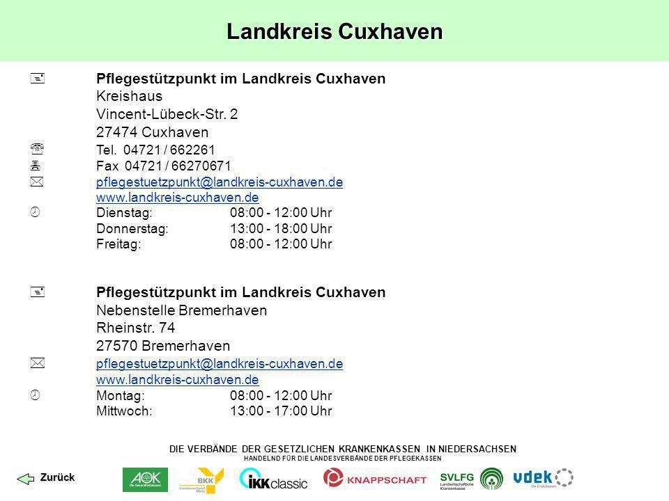 Landkreis Cuxhaven  Pflegestützpunkt im Landkreis Cuxhaven Kreishaus