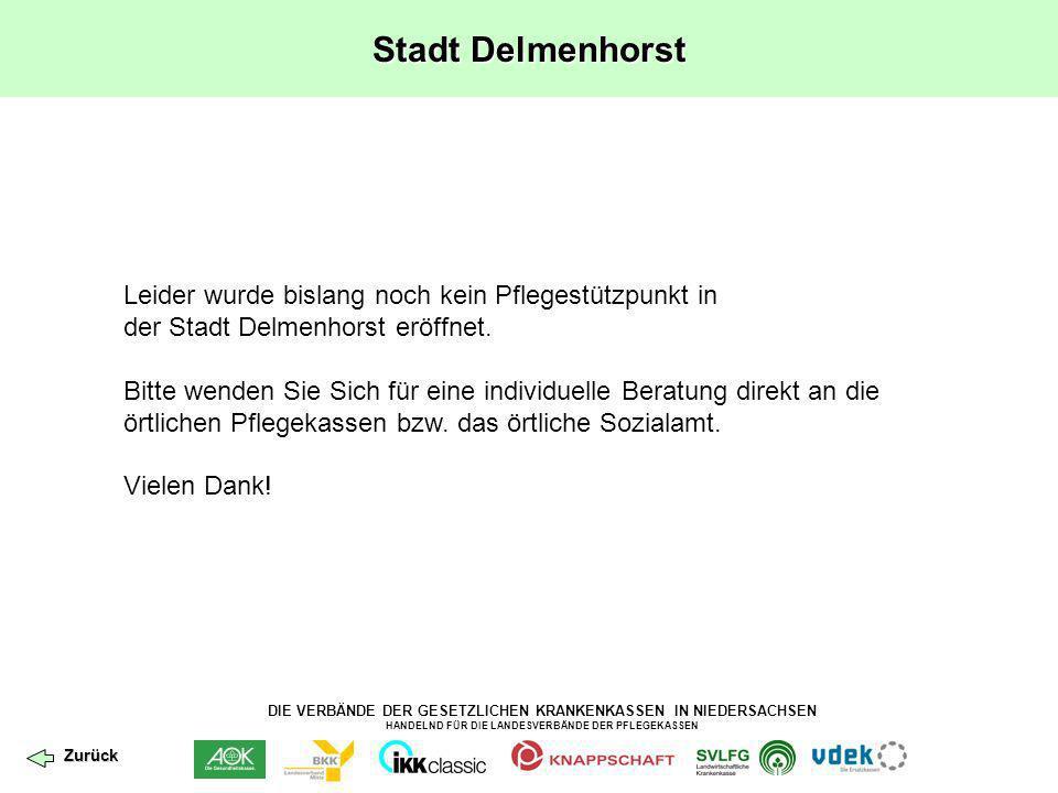 Stadt Delmenhorst Leider wurde bislang noch kein Pflegestützpunkt in