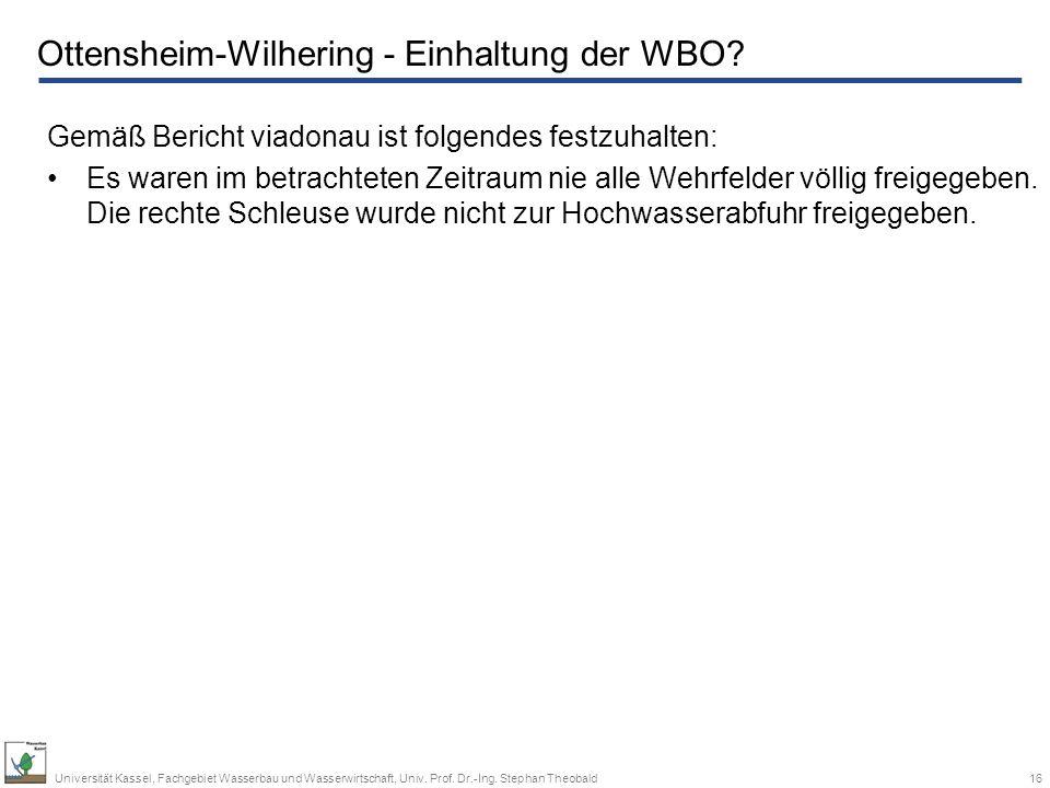 Ottensheim-Wilhering - Einhaltung der WBO