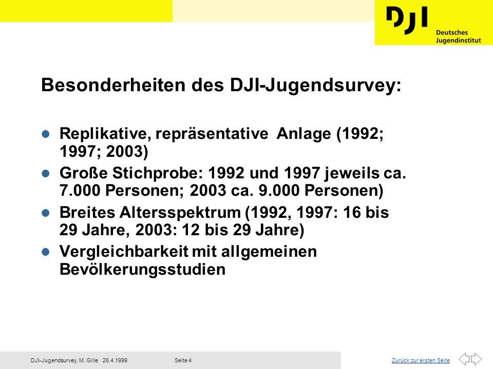 Besonderheiten des DJI-Jugendsurvey: