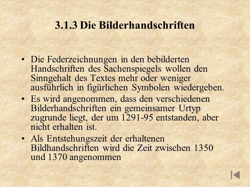 3.1.3 Die Bilderhandschriften