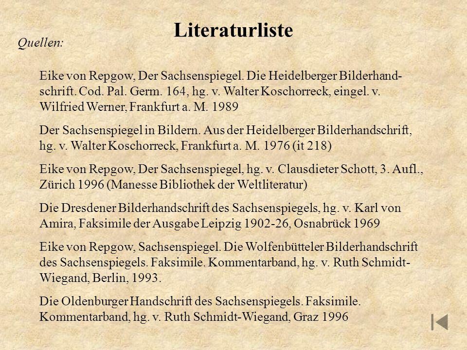 Literaturliste Quellen: