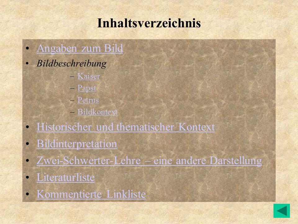 Inhaltsverzeichnis Angaben zum Bild