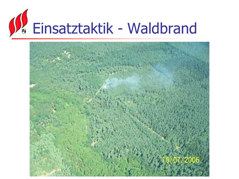 Einsatztaktik - Waldbrand