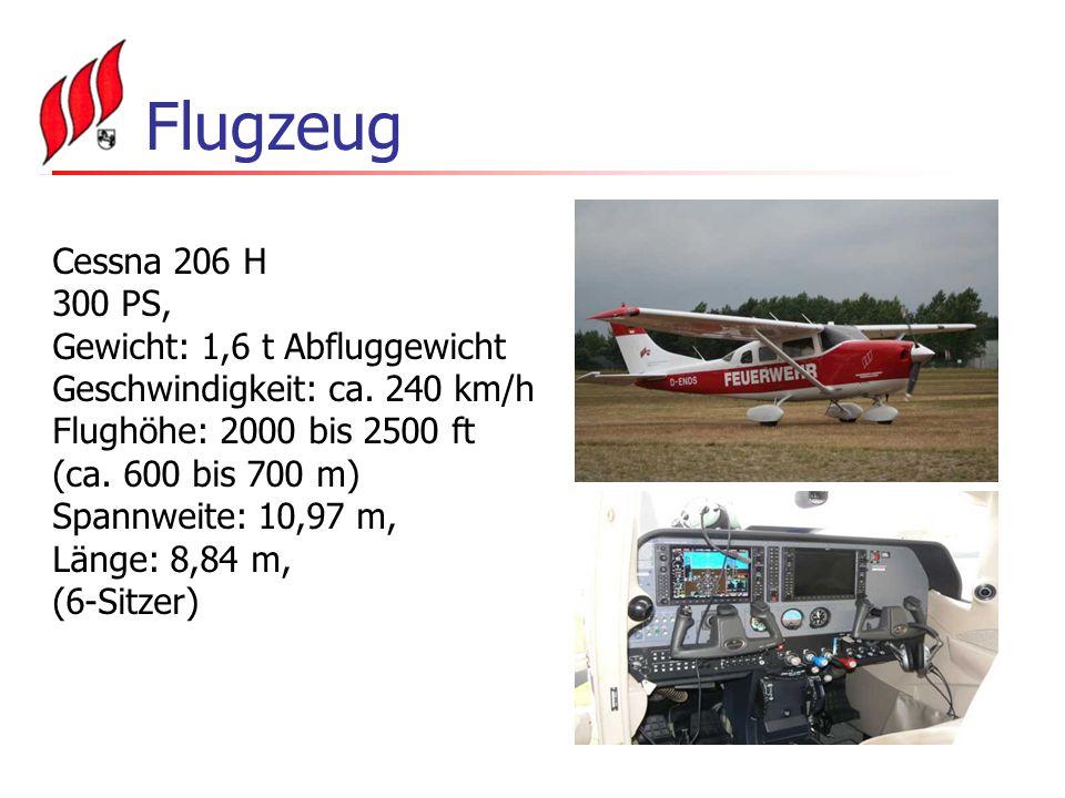 Flugzeug Cessna 206 H 300 PS, Gewicht: 1,6 t Abfluggewicht