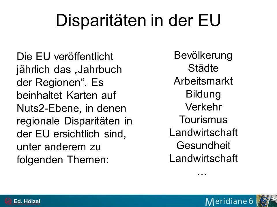 Disparitäten in der EU Bevölkerung