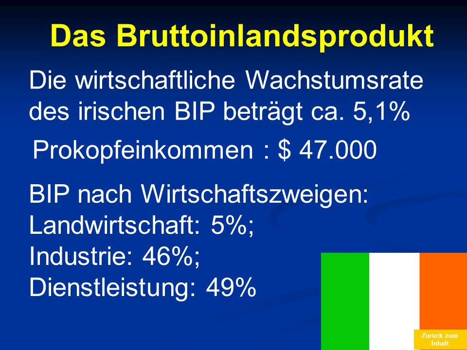 Das Bruttoinlandsprodukt