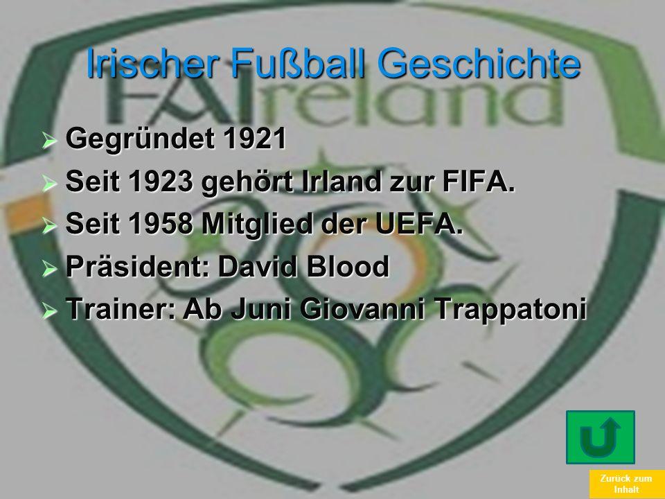 Irischer Fußball Geschichte