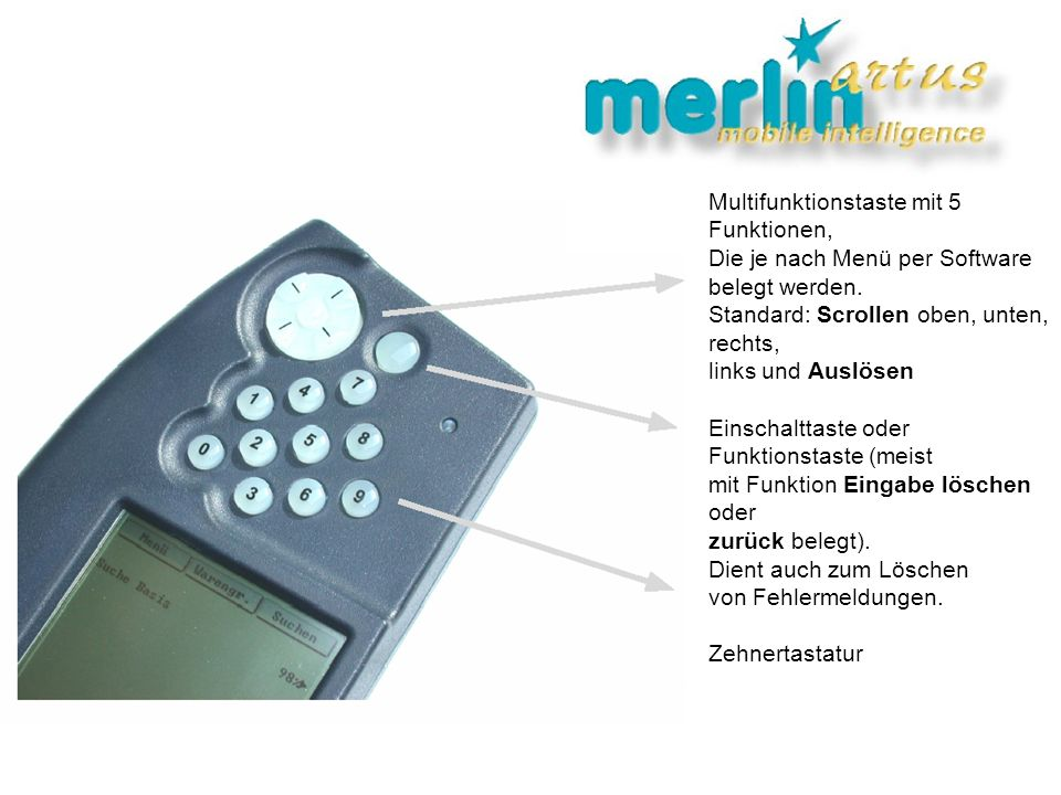 Multifunktionstaste mit 5 Funktionen,