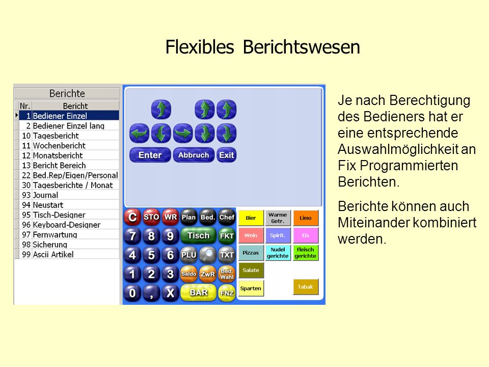 Flexibles Berichtswesen