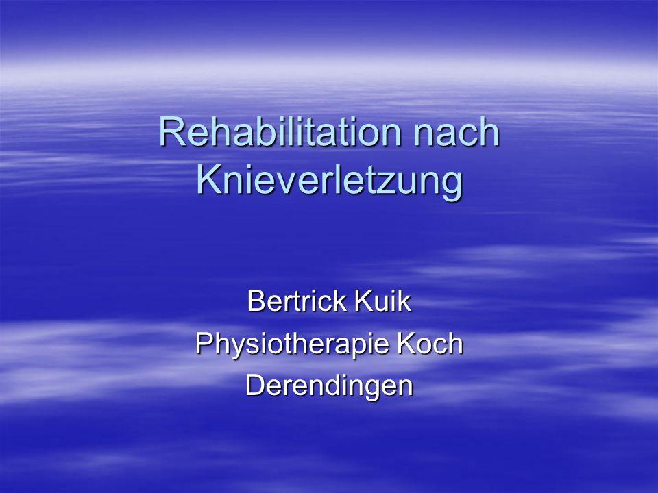 Rehabilitation nach Knieverletzung