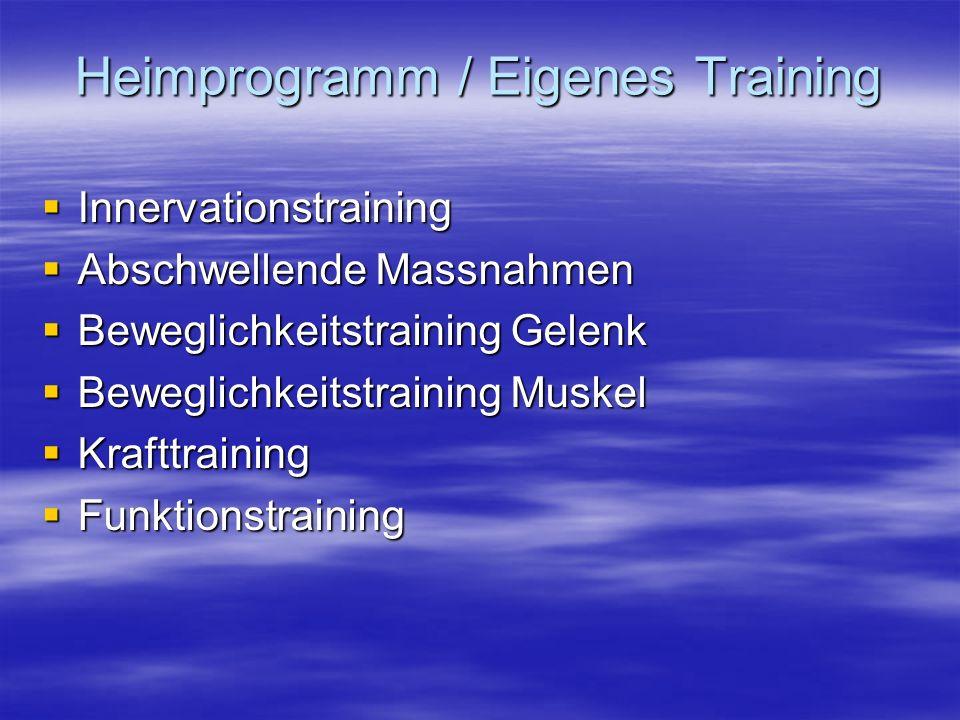 Heimprogramm / Eigenes Training