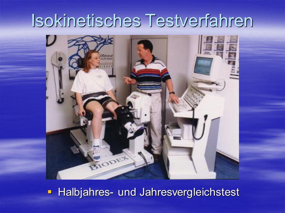 Isokinetisches Testverfahren