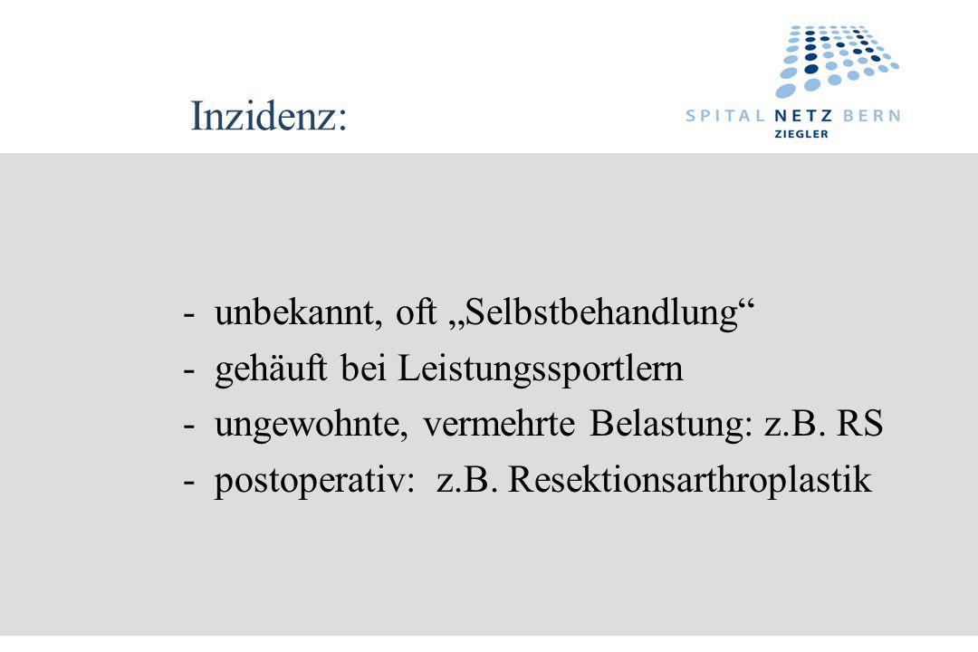 """Inzidenz: - unbekannt, oft """"Selbstbehandlung"""