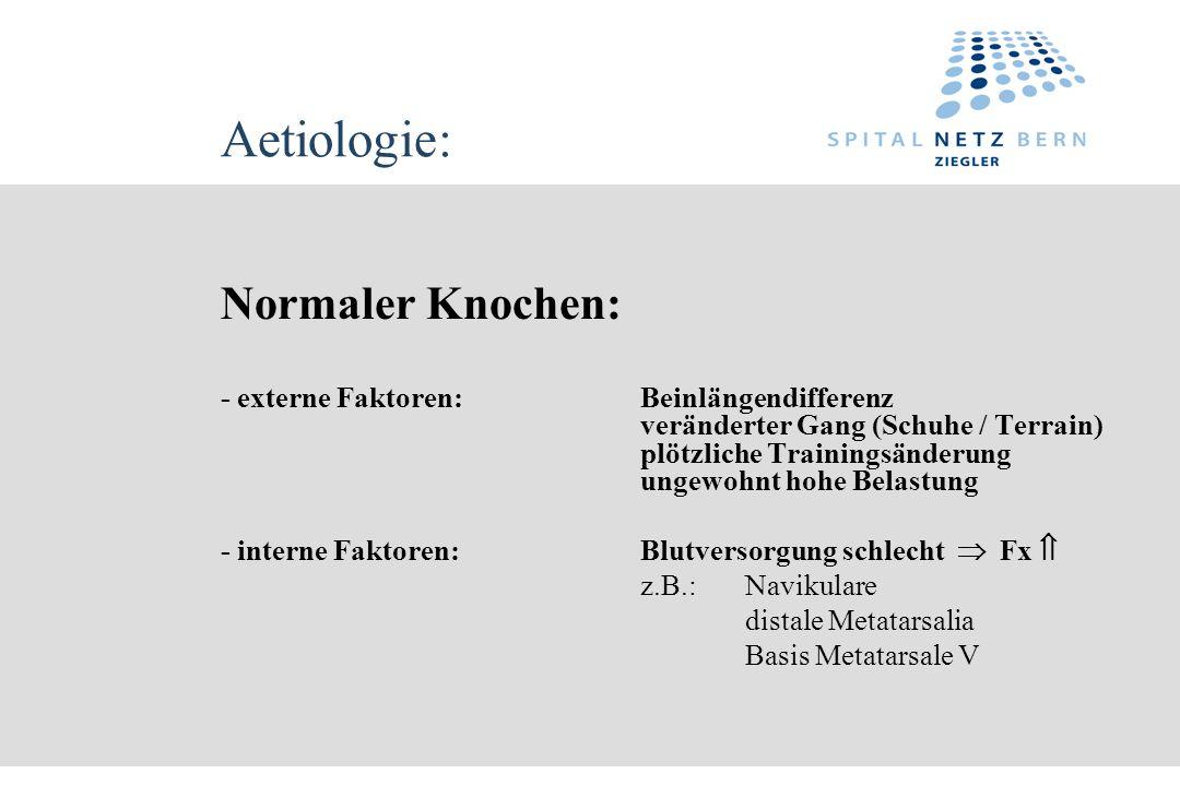 Aetiologie: Normaler Knochen: