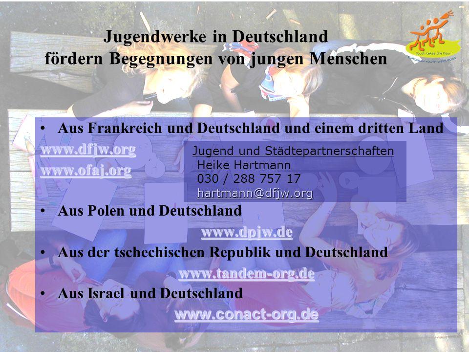 Jugendwerke in Deutschland fördern Begegnungen von jungen Menschen